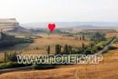 Полет на воздушном шаре-сердце