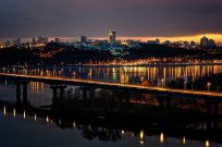 Ночной полет на вертолете над Киевом - Фото