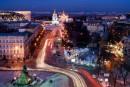 Ночной полет на вертолете над Киевом