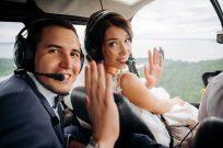 Свадебная прогулка на вертолете в Киеве - Фото