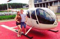 Романтическая прогулка на вертолете в Киеве - Фото