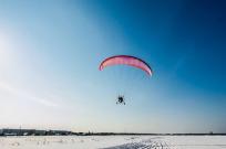Можно ли летать на параплане зимой - Фото