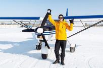 Зима – прекрасная пора для полетов на самолете - Фото